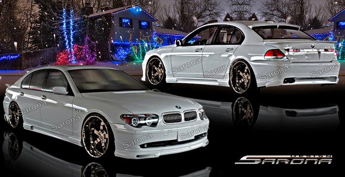 Custom BMW 7 Series Body Kit  Sedan (2002 - 2005) - $1390.00 (Manufacturer Sarona, Part #BM-025-KT)